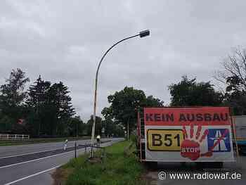 Fahrraddemo auf der B64 zwischen Beelen und Telgte - Radio WAF