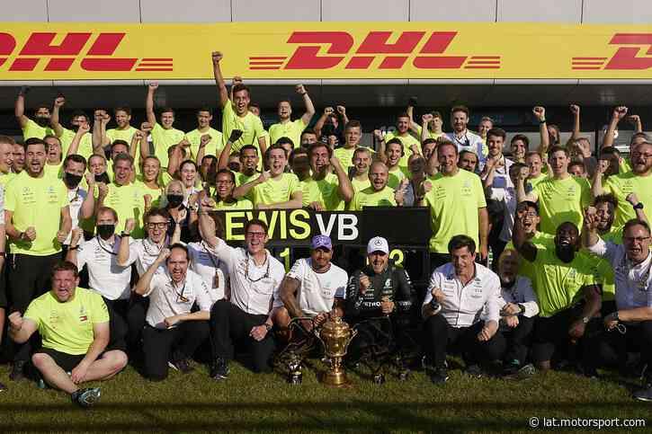 Mercedes explica su celebración en Silverstone tras el choque con Max - Motorsport.com Latinoamérica