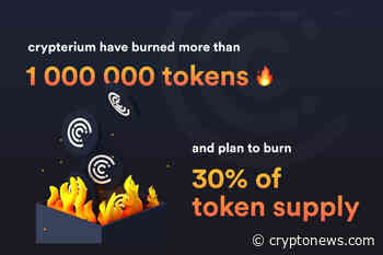 Crypterium - One Of The Largest Crypto Banks Burns 1M CRPT Tokens - Cryptonews