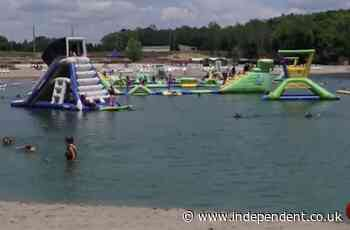 Ohio teen drowns after falling from inflatable obstacle at waterpark and not being found under water for 30 minutes
