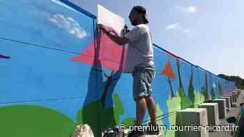 Des jeunes graffeurs métamorphosent un mur anti-bruit à Amiens - Courrier picard