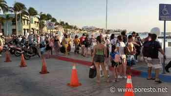 Cruces de Cozumel a Playa del Carmen rebasan aforo permitido - PorEsto