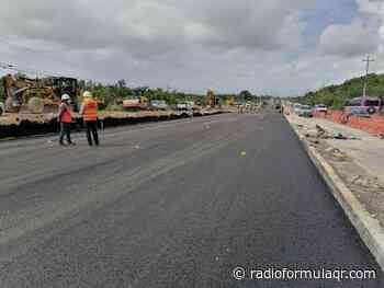 Abren dos carriles en la carretera federal Cancún - Playa del Carmen - Radio Fórmula QR