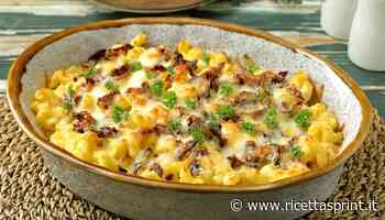 Pasta gratinata con crema di zucchine e robiola   Semplice e gustosa - RicettaSprint