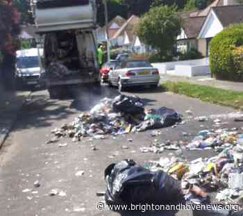 Brighton and Hove News » Batteries explode inside Brighton bin lorry - Brighton and Hove News