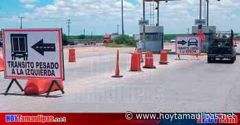 En Nuevo Laredo, ponen señalamientos para tráfico pesado en el KM 26 - Hoy Tamaulipas