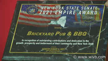 """Brickyard Pub and BBQ recognized as Sen. Rob Ortt's """"Small Business of the Month"""""""