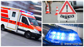 Blaulichtreport Metzingen: Hoher Sachschaden bei Crash gegen Anhänger - SWP