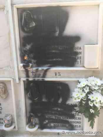 Ignoti oltraggiano con spray nero due lapidi nel cimitero di Bitonto - da Bitonto