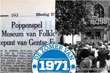 """""""Veel volk"""" voor """"behaardige mannen"""" die helaas luid en vals zingen: dit was de zomer van 1971 in De Gentenaar"""