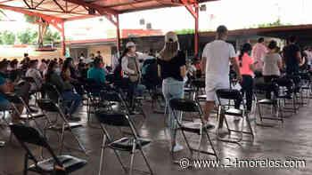 Ya aplican vacuna Covid-19 a mayores de 18 años en Jiutepec - 24 Morelos