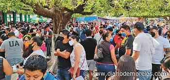 Abarrotan módulos en Jiutepec durante primer día de vacunación - Diario de Morelos
