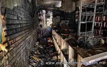 Tlapalería de Jiutepec queda reducida a cenizas; se pide apoyo de la población - El Sol de Cuernavaca