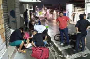 Jovem grita por socorro após acidente no Centro de União dos Palmares - BR 104