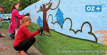 Wismar: Graffiti-Profi sprüht mit Schülern Kunstwerke an die Wand - Ostsee Zeitung
