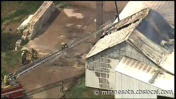 Albany Fertilizer Distributor Fire Posed No Threat To Area Residents, Fire Dept. Says - CBS Minnesota
