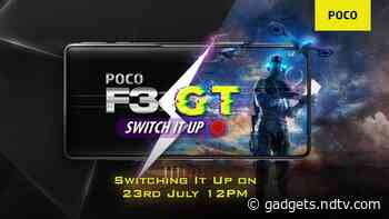 Poco F3 GT India Launch Today: Here's How to Watch Livestream, Expected Price, Specifications