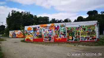 Flutkatastrophen und Corona: Graffiti in Finsterwalde zeigen Helfer-Not bei der Feuerwehr - Lausitzer Rundschau