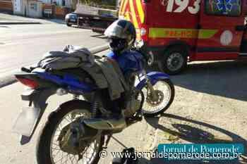 Acidente envolve carro e moto, em Testo Central - Jornal de Pomerode