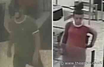 Police hunt pair suspected of stealing handbag from Chichester shop