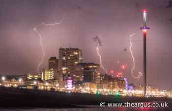 Brighton weather: City to be hit by thunderstorms amid yellow weather warning