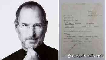 Steve Jobs' 1973 Job Application Is Up for World's First Physical vs NFT Auction