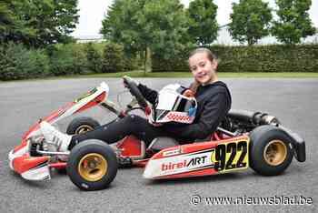 """Yinthe is amper tien jaar, maar laat heel wat oudere jongens in het stof bijten op het kartingcircuit: """"Dat 'p - Het Nieuwsblad"""