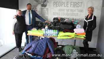 Harcourts Mandurah staff give homeless a hand up through donations - Mandurah Mail