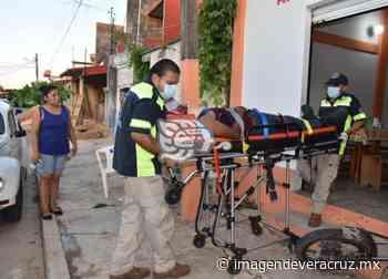 Grave joven motociclista tras derrapar en Acayucan - Imagen de Veracruz