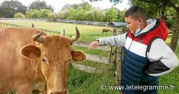 Les Ulis de Jean-Jaurès en visite à la ferme de l'IME Ar Brug - Le Télégramme