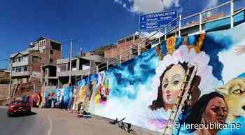 Pintan mural en el ingreso a la ciudad de Puno con motivo del Bicentenario - LaRepública.pe