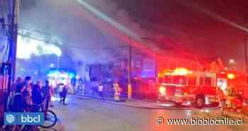 Dos viviendas totalmente destruidas deja incendio de calle Lientur en Concepción - BioBioChile