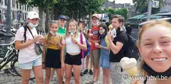 Swappers Riemst spelen leuk stadsspel in Maastricht