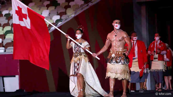 Look: 'Shirtless Tongan' Pita Taufatofua delivers again at Tokyo Olympics