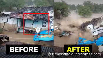 Caught on cam: Rains batter MP, house collapse after developing cracks due to flooding