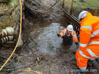 Scotland's first 'beaver pass' built under Highland mainline following floods - Project Scotland
