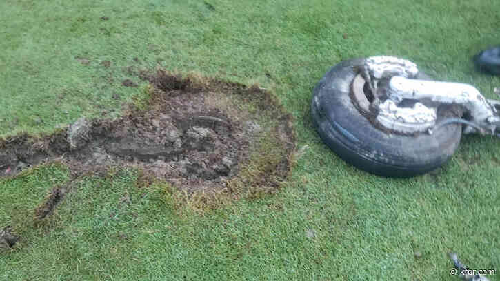 Landing gear falls from plane, crashes to ground at country club: 'Found by a golfer who was out on the course'