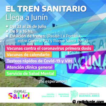 El Tren Sanitario llegará a Junín el viernes 23 de julio - Radio Junín LT20