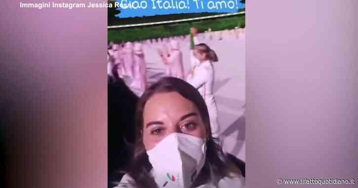 Gli atleti alla cerimonia inaugurale delle Olimpiadi di Tokyo 2021: la portabandiera Jessica Rossi sfoga così l'emozione – Video