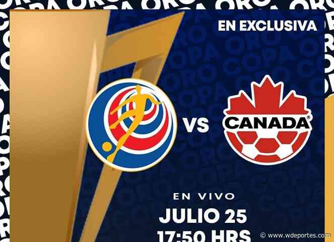 Costa Rica vs Canadá   4tos de final   Copa Oro - W Deportes