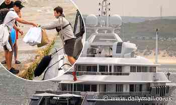 Mission Impossible star Tom Cruise gives a glimpse of his £32m yacht he's holidaying on in St Ives