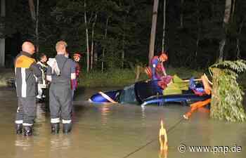 Jeep von Brücke geschwemmt: So lief der Großeinsatz an der Isar - Passauer Neue Presse