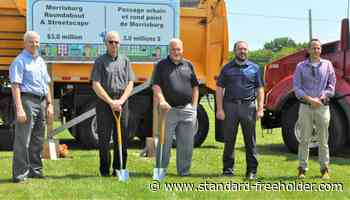 Sod turning for Morrisburg roundabout and streetscape project - Standard Freeholder