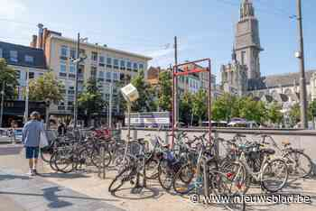 Plaats voor 800 fietsen in ondergrondse parkeergarage op Groenplaats
