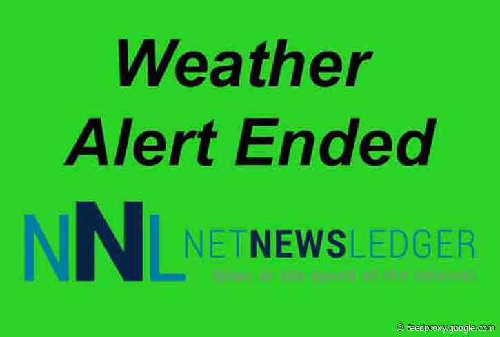 Warning ended……. Severe Thunderstorm Warning for Atikokan – Shebandowan and Quetico