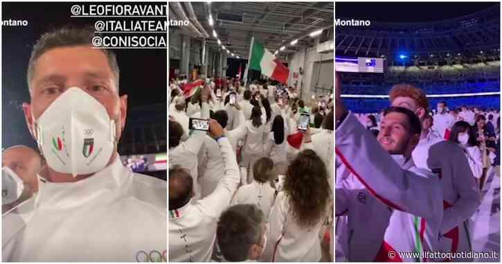Montano racconta la cerimonia inaugurale delle Olimpiadi di Tokyo 2021 dal punto di vista degli atleti: prima l'inno di Mameli, poi l'emozione
