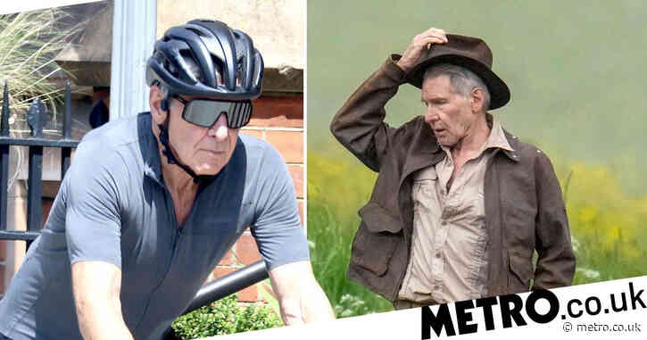Harrison Ford doesn't let Indiana Jones injury slow him down as he cycles around London in the sunshine