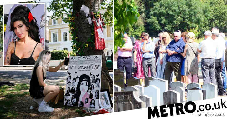 Amy Winehouse fans and family gather to pay tribute to late singer on 10th anniversary of her death