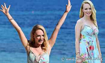 Joyful Heather Graham dons plunging floral dress at the Filming Italy Festival in Sardinia