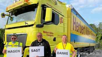 Hilfstransport aus Goslar für Flutopfer trifft in Hagen ein - WP News